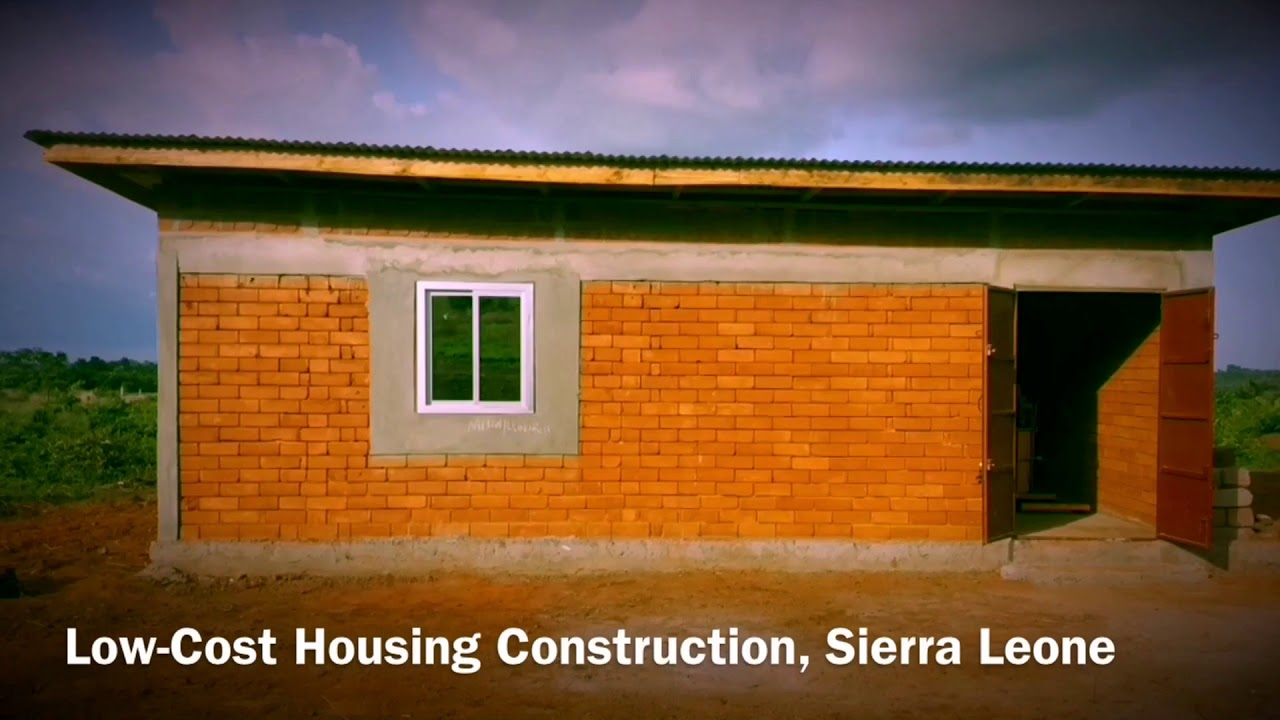 Low Cost Housing Construction With Interlocking Bricks