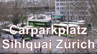 Bus Station Zürich / Busbahnhof Carparkplatz Zürich Sihlquai