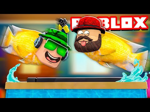WHAT HAPPENED TO US WHY WE TURNED INTO FISHES?! ROBLOX FLOP