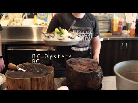 Fanny Bay Oysters, BC Chefs, BC Seafood, BC's Gas