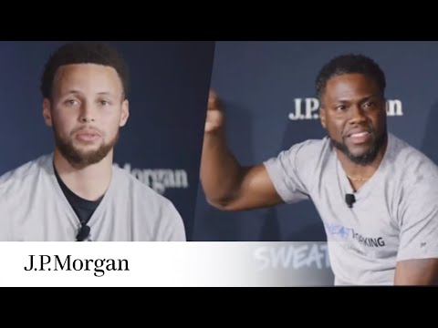 Family Financial Fitness With Kevin Hart And Stephen Curry   Sweatworking   J.P. Morgan