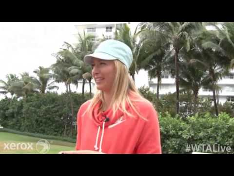 WTA Live All Access Hour 2014 Sony Open Tennis   Maria Sharapova