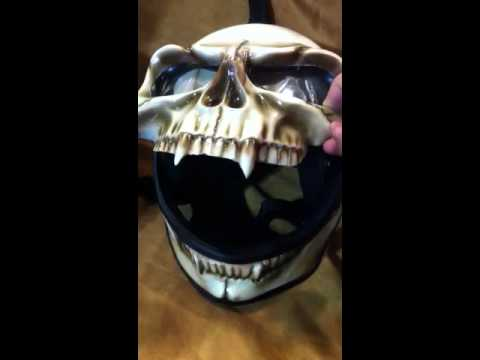 Skull bike helmet
