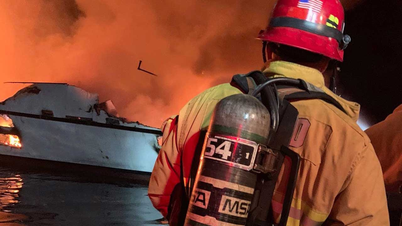 5 rescued from burning boat near Santa Cruz Island