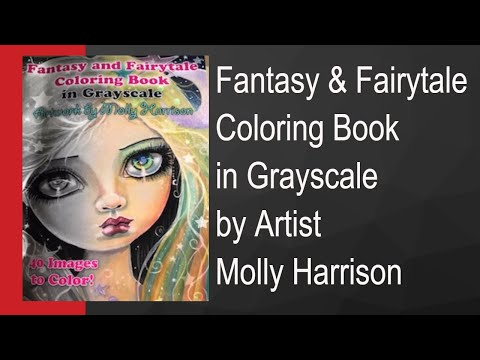 Fantasy And Fairytale Adult Coloring Book Review by Artist Molly Harrison