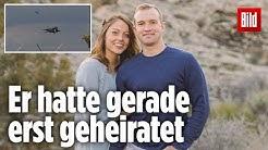 Pilot stürzt mit seinem Jet in die Nordsee ab und stirbt: So emotional nimmt seine Frau Abschied