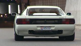 WHITE Ferrari Testarossa in Monaco | Miami Vice fan?