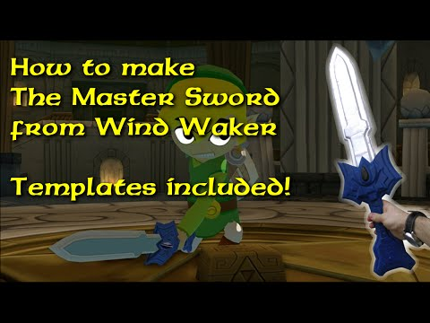 How to make the Master Sword (unpowered) from Windwaker (template included)