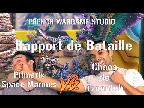 FWS Warhammer 40k Space Marines Primaris VS Chaos de Tzeentch