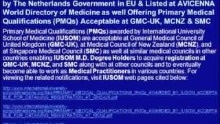 APPLY FOR PreMed DEGREE ADMISSIONS FOR MAY 2012 SEMESTER AT IUSOM