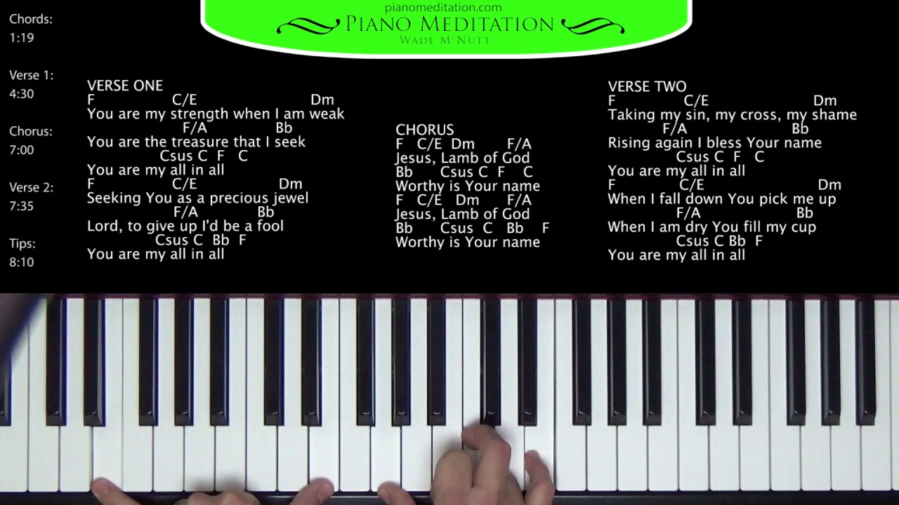 All in All   How to Play on the Piano   F