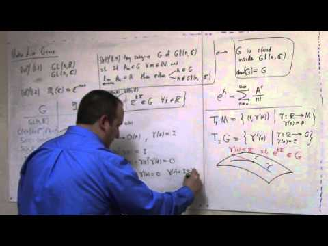 Matrix Lie Groups: Feb 22, Lie Groups and tangent space at I (part 2)