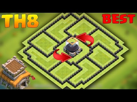 Clash of Clans - Town Hall 8 Best Dark Elixir Farming Base | TH8 D/e Protection Base + Replays