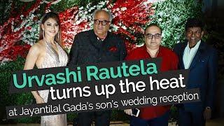 Urvashi Rautela Turns Up the Heat at Jayantilal Gada's Son's Wedding Reception