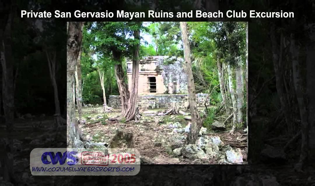 Private San Gervasio Mayan Ruins And Beach Club Excursion