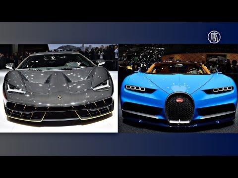 Гиперкары Bugatti и Lamborghini дебютируют на автошоу в Женеве (новости)