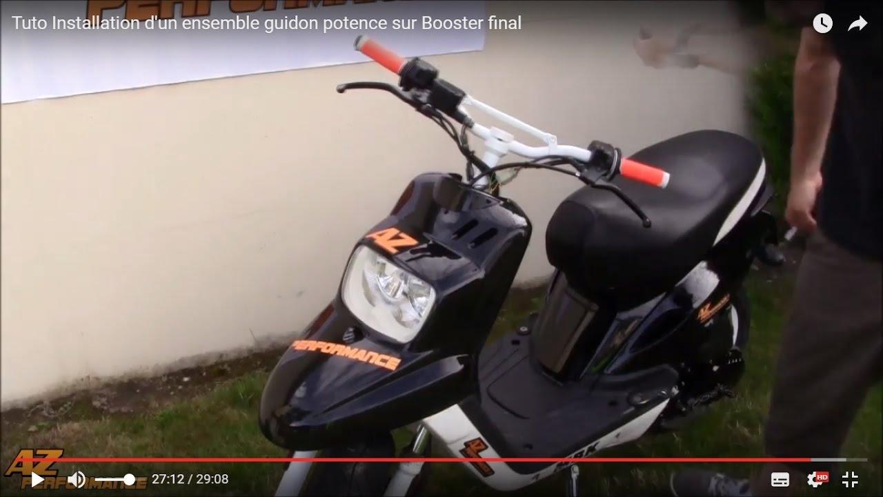 TUNR GUIDON SCOOTER CROSS ADAPTABLE BOOSTER ALU NOIR AVEC POTENCE