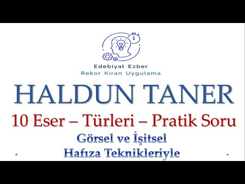 Haldun Taner Eserleri - HAFIZA TEKNİKLERİYLE - AYT Edebiyat