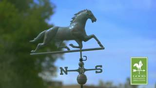 Gd580v1 Horse Weathervane Blue Verde Copper
