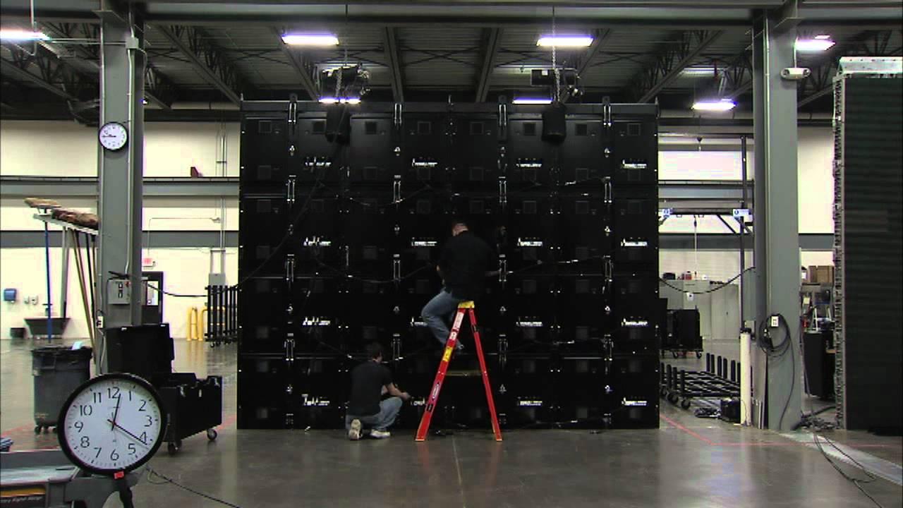 Daktronics Modular LED Panel Set Up