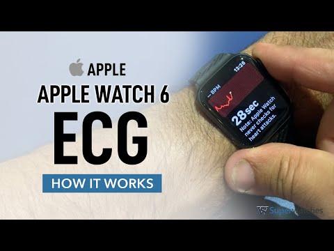 Apple Watch 6 - Taking an ECG reading