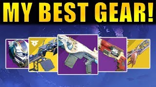 Destiny 2: MY BEST GEAR! - New Exotics! God Rolls! Best Perks! | Forsaken