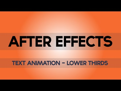 After Effects Tutorial - Lower Third Text Animation