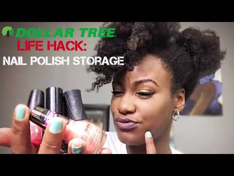 Dollar Tree Life Hack for Nail Polish Storage
