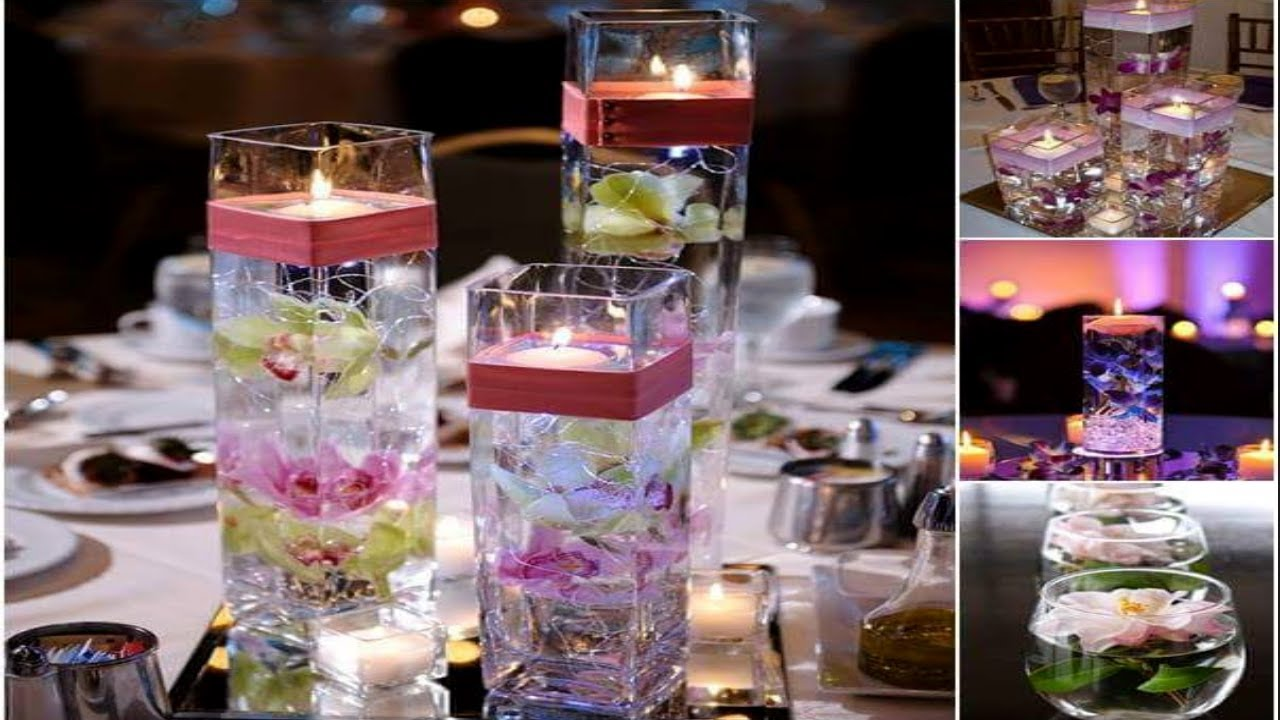 DIY Vase Centerpieces,DIY Water Candles, Water Flooding ...