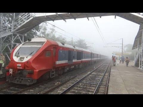 New Dynamic Demu Train of Indian Railways / Sealdah to Jangipur Road Demu Local Train