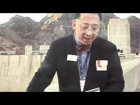 Dr. Frank Wang calculates power generated by Hoover Dam