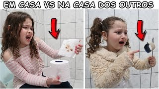 EM CASA VS NA CASA DOS OUTROS - AT HOME VS IN THE HOUSE OF OTHERS