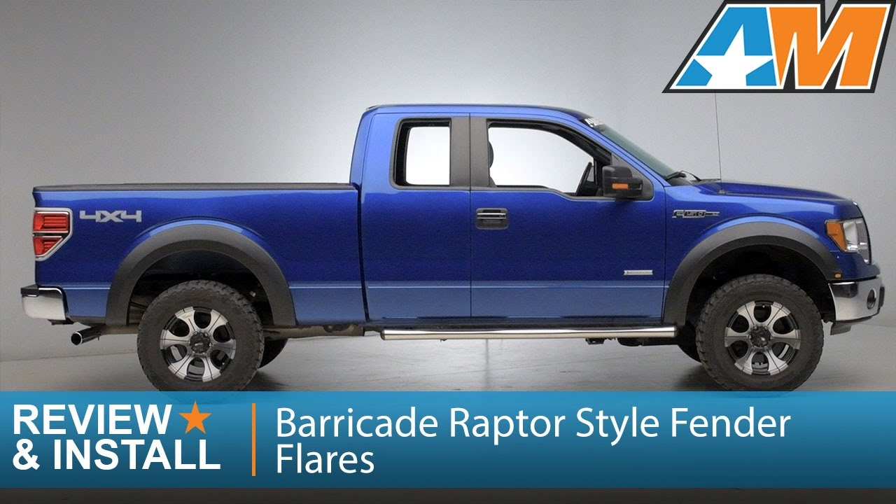 2009 2014 F 150 Barricade Raptor Style Fender Flares