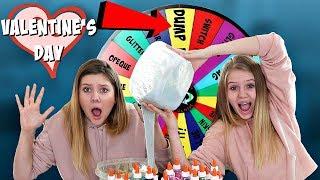 Mystery Wheel of Dump it Slime Challenge | Sis vs Sis | Taylor and Vanessa