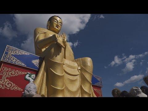 Открытие и освящение статуи Будды Майтреи.
