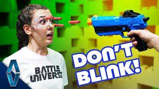 NERF Don't Blink Challenge! Video