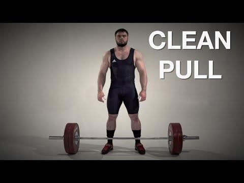 Clean PULL / weightlifting & crossfit