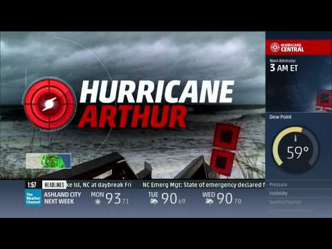 Hurricane Arthur Coverage (7/4/14 1am-3am) - The Weather Channel