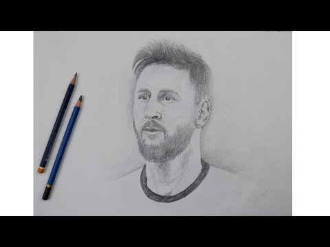 How to Draw Messi Step by Step   Learn Drawing   Drawing Buzz