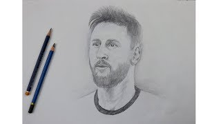 How to Draw Messi Step by Step | Learn Drawing | Drawing Buzz