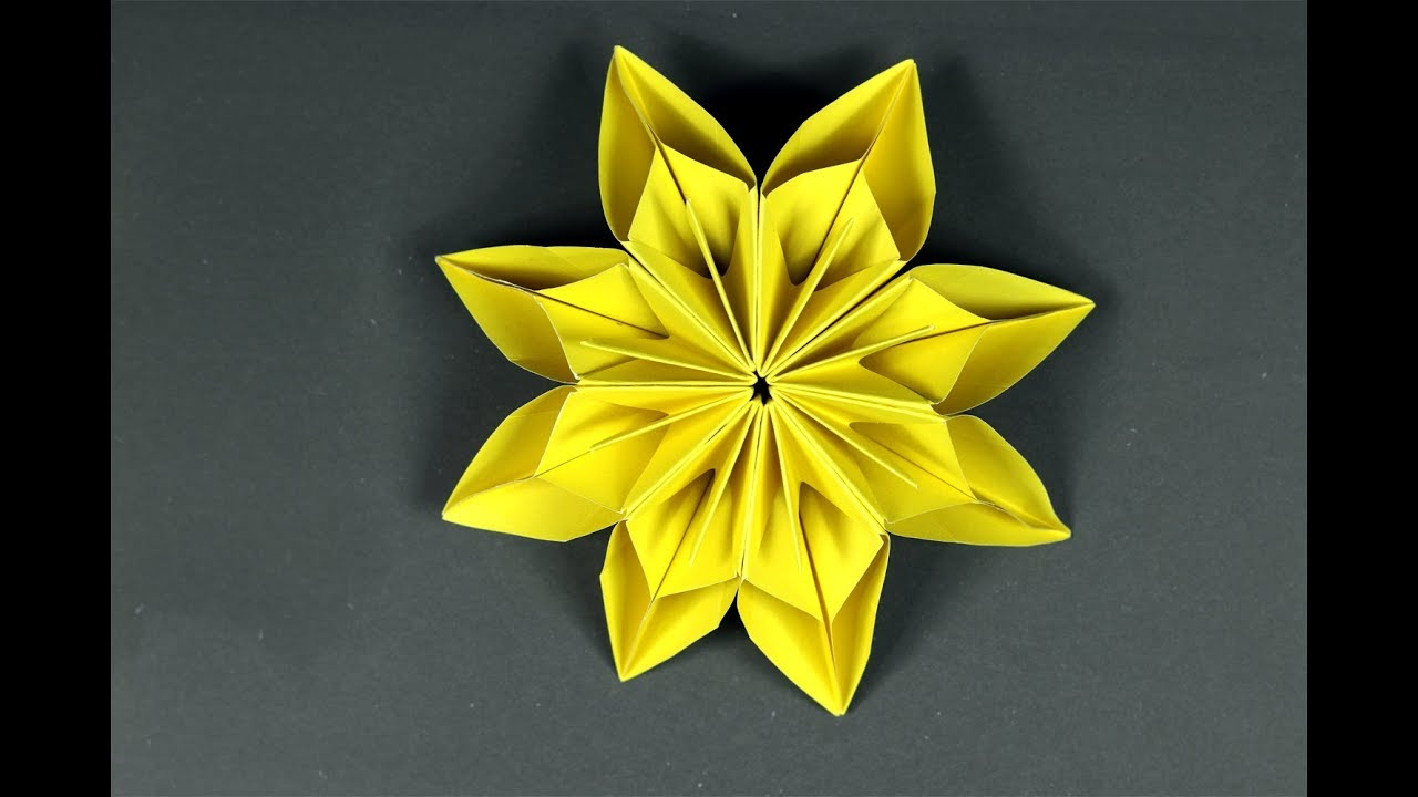 How to make paper flowers easy origami flower tutorial youtube how to make paper flowers easy origami flower tutorial mightylinksfo