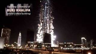 World's tallest building Burj Khalifa (Burj Dubai) opening ceremony fireworks Best view