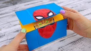 Spider-man Homecoming Neverending Card with Iron Man and Vulture | Marvel Paper Craft