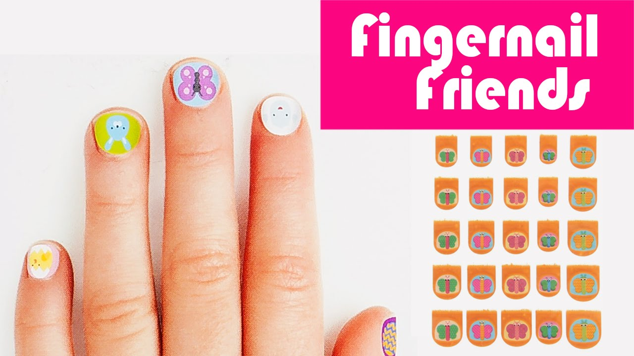 Kyndra's Fingernail Friends Butterflies Nail Stickers ...