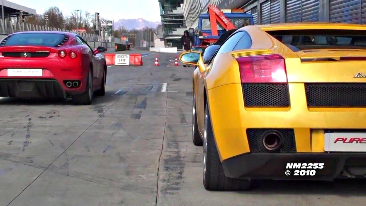 Lamborghini Gallardo Vs Ferrari F430 Youtube