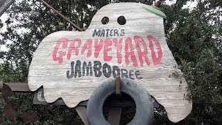 Mater's Graveyard JamBOOree POV Ride & Queue - w/Grim Grimming Ghosts Sendup at Cars Land Halloween