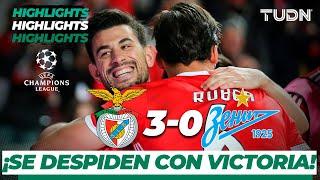 Highlights | Benfica 3 - 0 FC Zenit | Champions League - J 6 - Grupo G | TUDN