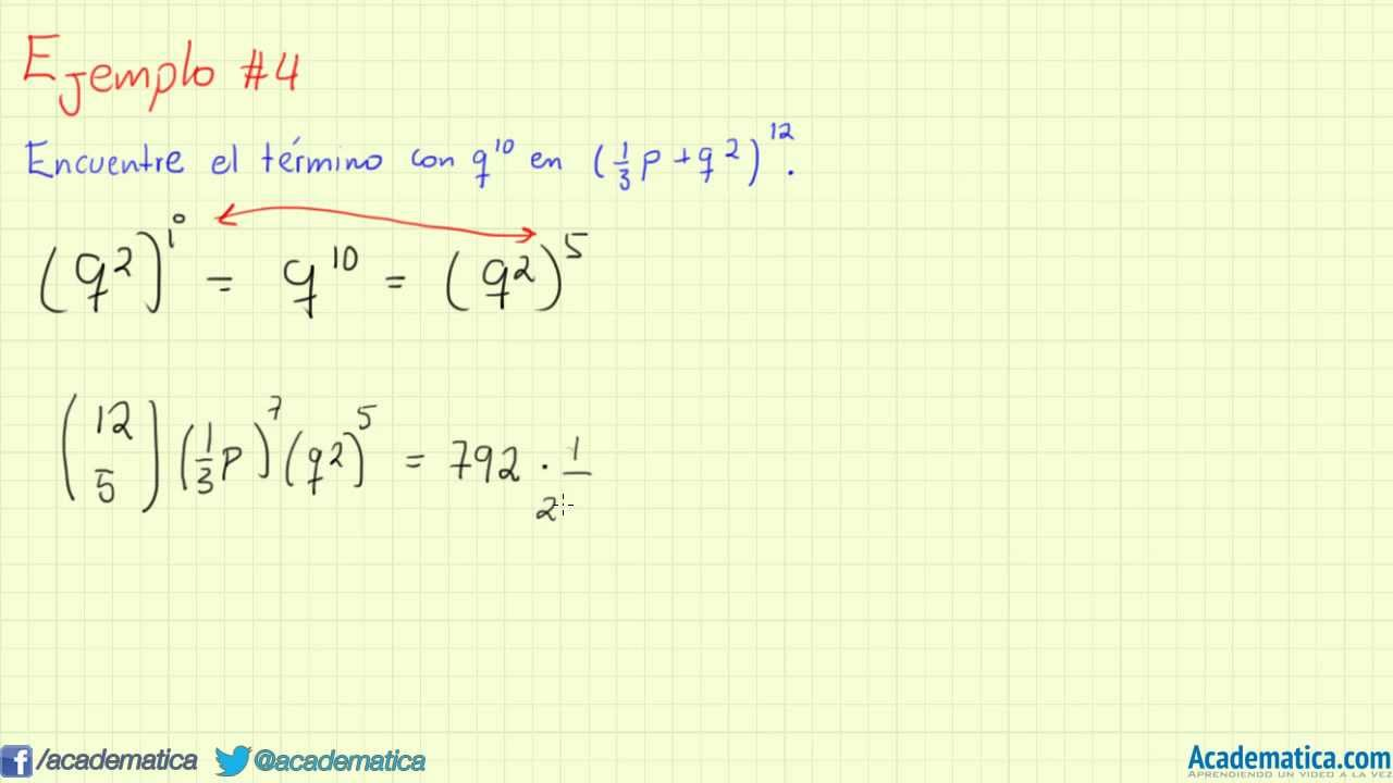 Teorema del Binomio de Newton - YouTube