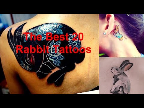 cool rabbit tattoos for girls and men best tattos youtube. Black Bedroom Furniture Sets. Home Design Ideas