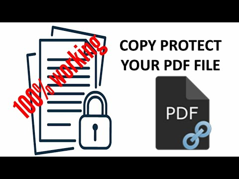 Prevent copy/editing/printing of a PDF file using PDF anti- copy